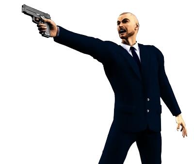Cu pistolul la tâmplă
